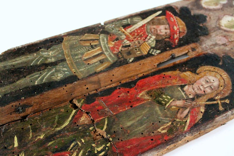 Recovered panels from Holy Trinity Torbryan.