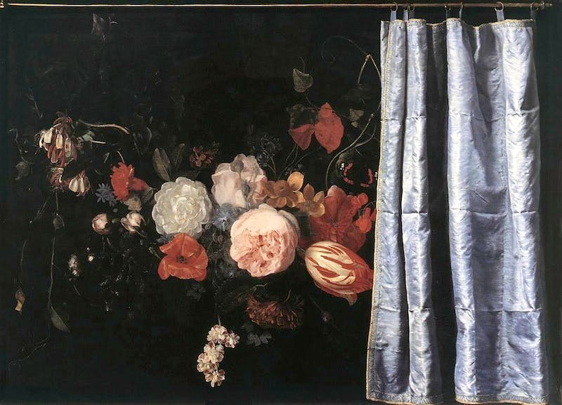 Image result for dark curtain in renaissance painting