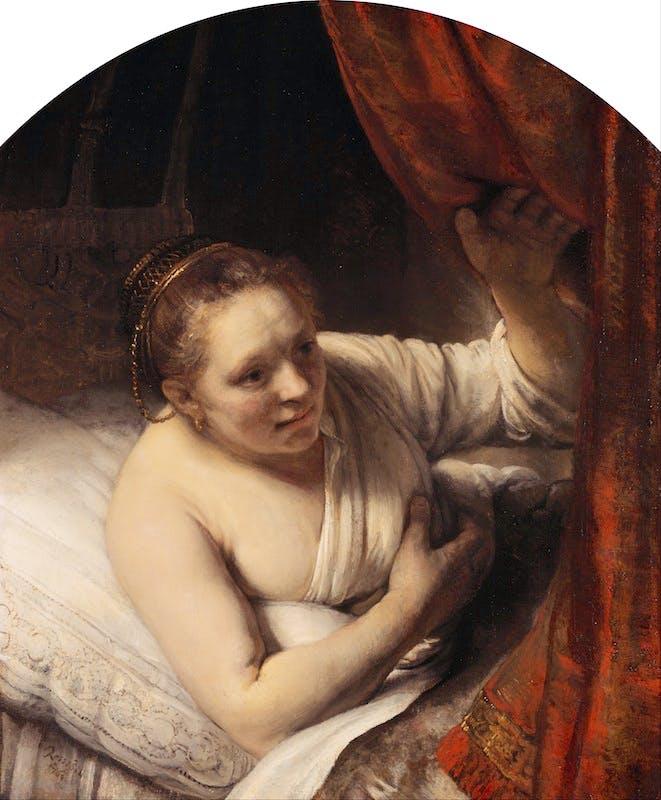 Rembrandt_(Rembrandt_van_Rijn)_-_A_Woman_in_Bed_-_Google_Art_Project