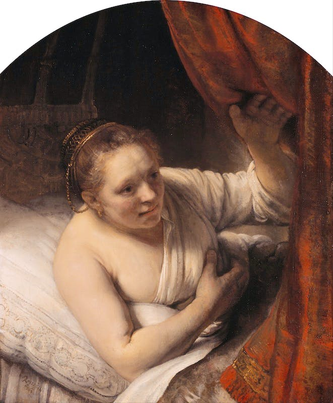 Rembrandt_(Rembrandt_van_Rijn)_-_A_Woman_in_Bed_-_Google_Art_Project
