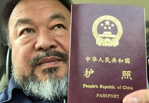 Ai Weiwei shows the world his passport via Instagram.