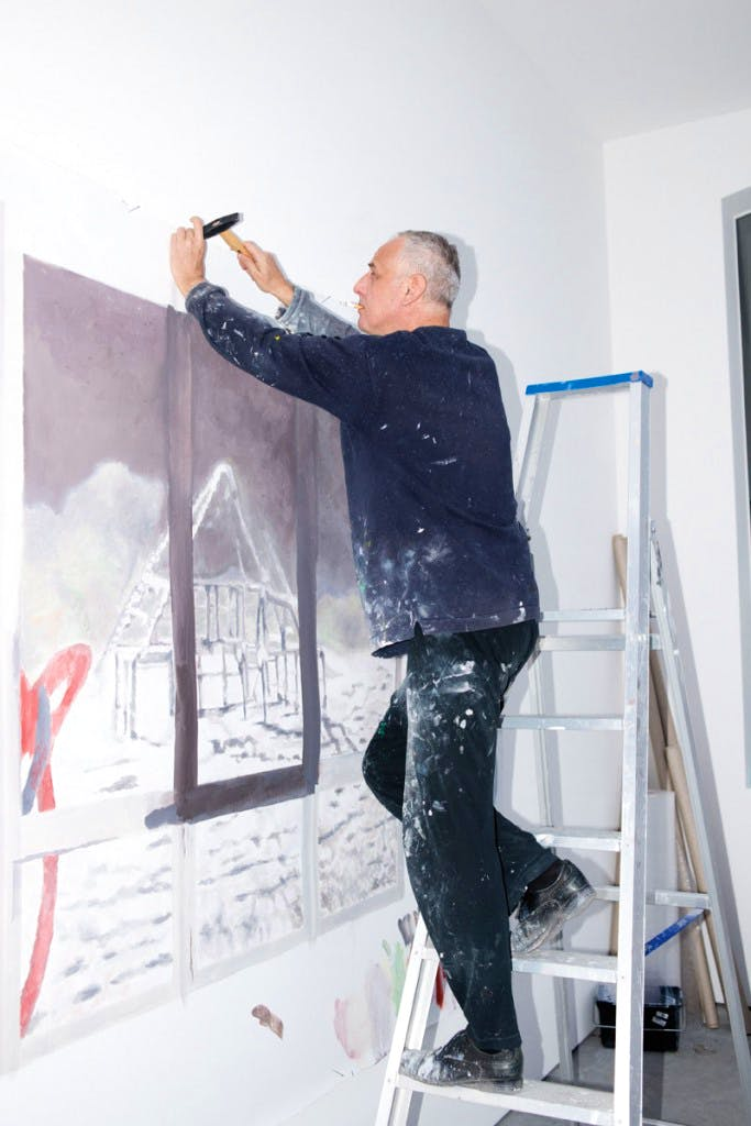 Luc Tuymans in his studio.