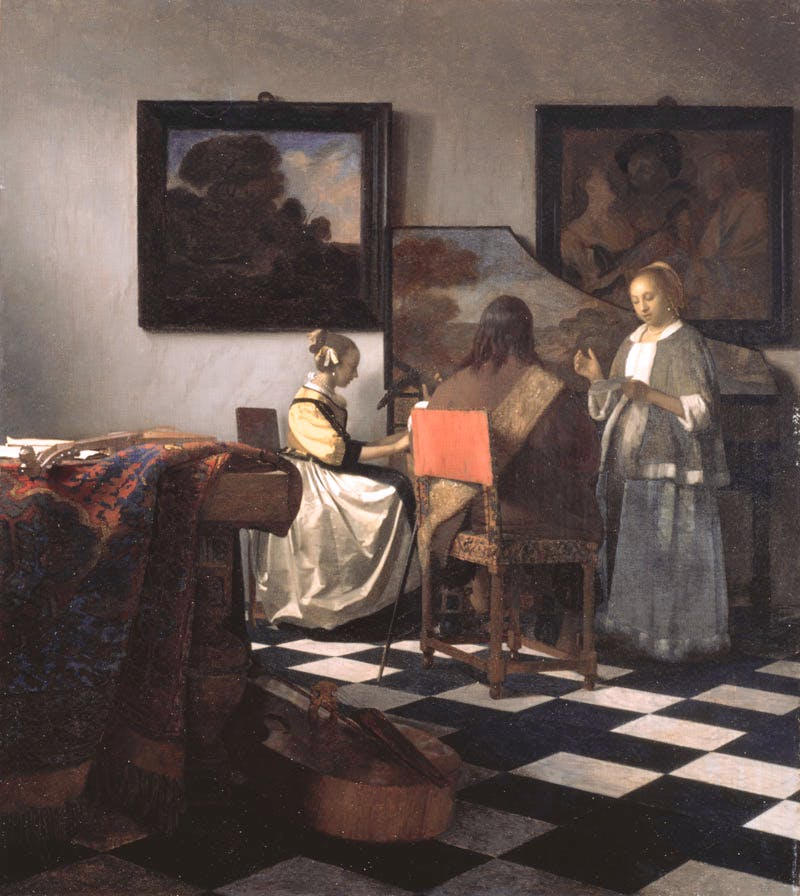 The Concert (1658-1660), one of approximately 36 known works by Vermeer in the world