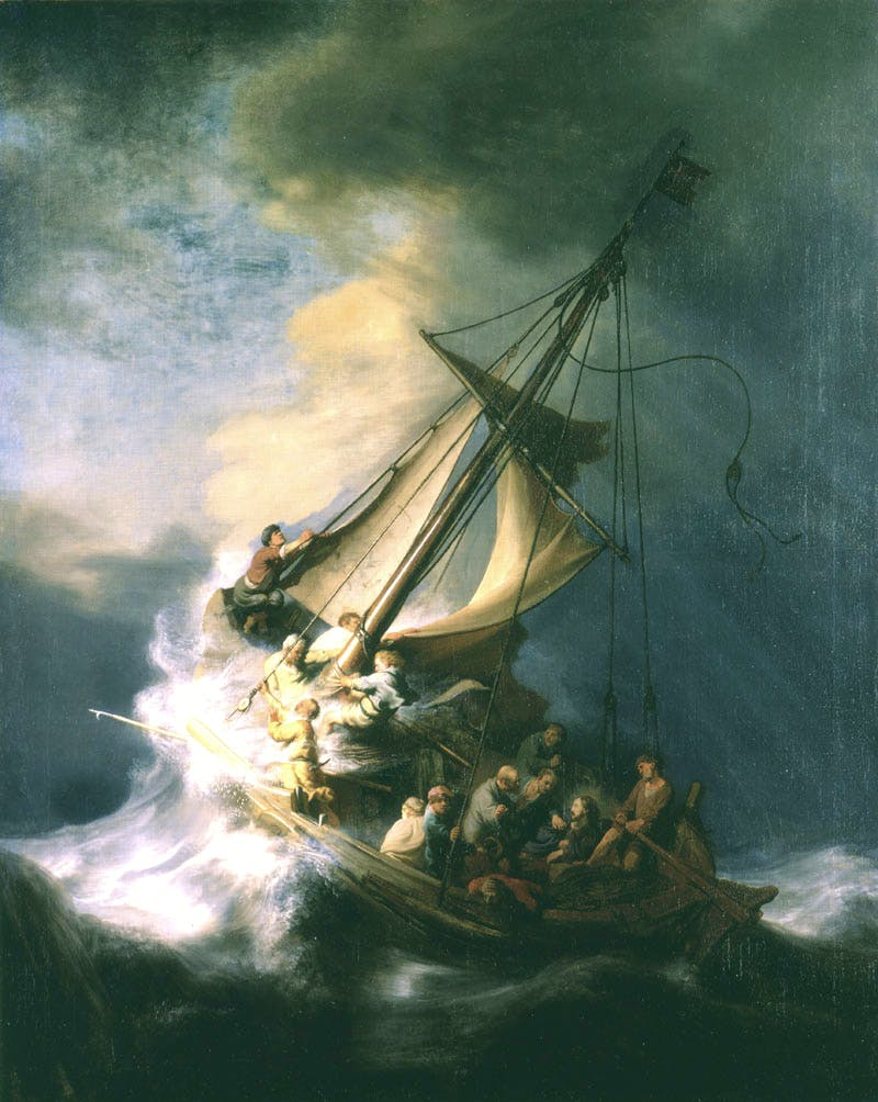 The Storm on the Sea of Galilee (1633), Rembrandt's only known seascape