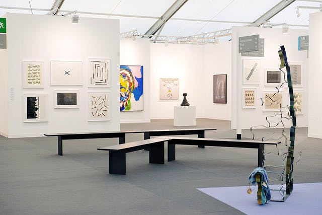 The calm before the storm: Frieze London, 2014.