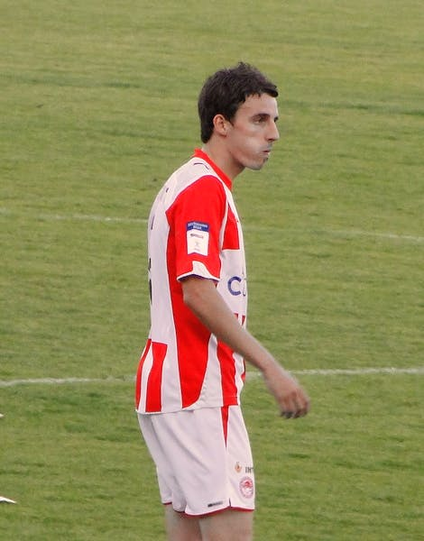 Matt Derbyshire playing for Olympiacos in 2010.