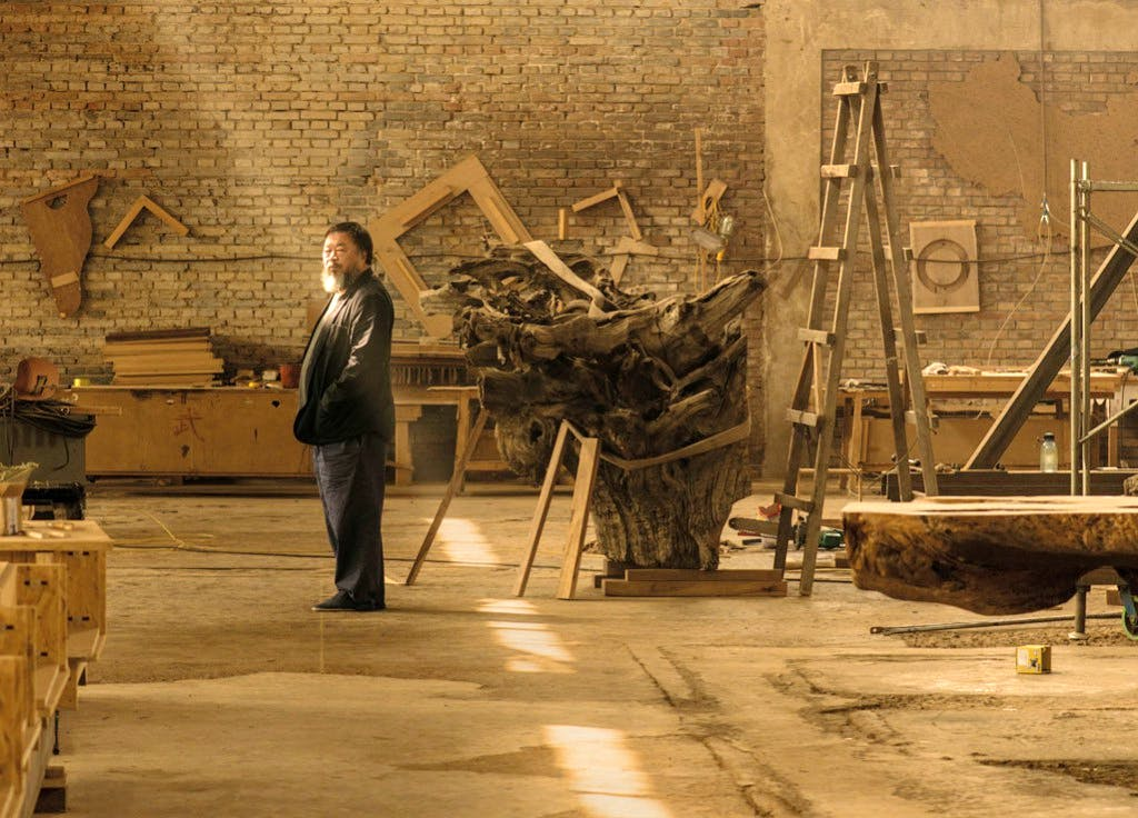 Ai Weiwei in his studio in Beijing, taken in April 2015