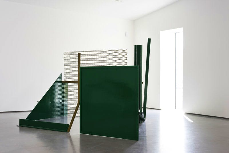 Installation view of Caro in Yorkshire, featuring 'The Window' (1966/1967) by Anthony Caro.