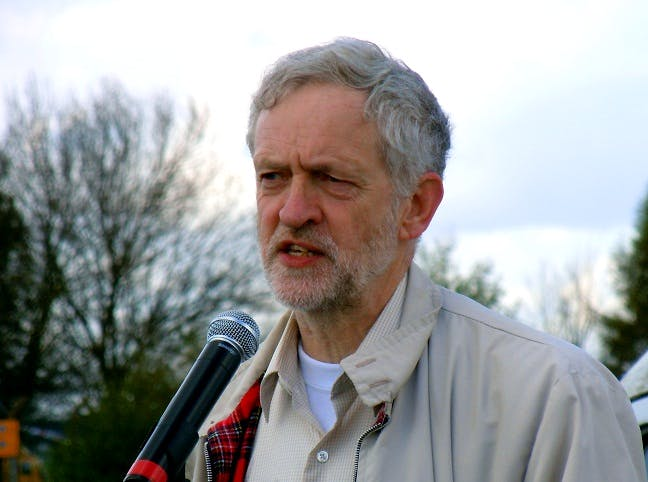 UK Labour Party leader Jeremy Corbyn