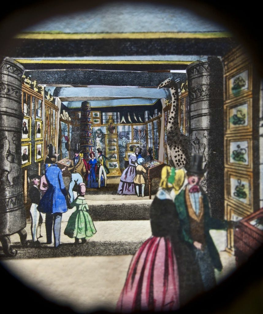 Peephole diorama of the London Missionary Society Museum, (mid 19th century)