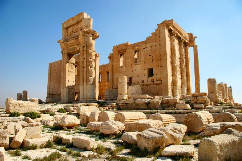 The Temple of Bel in Palmyra, Syria, as it stood before its destruction by ISIS on August 30th 2015