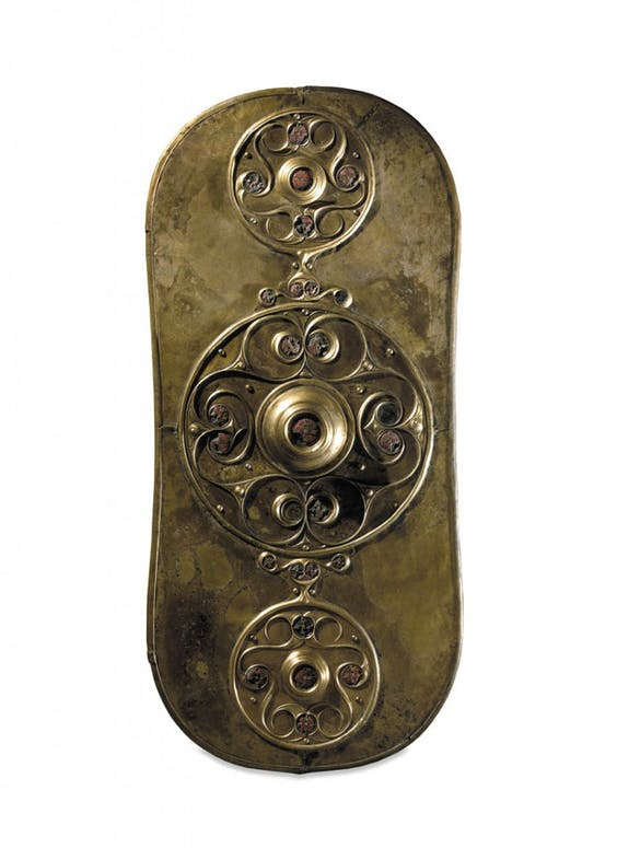 The Battersea Shield (350-50 BC), Bronze, glass, found int he River Thames at Battersea Bridge, London, England