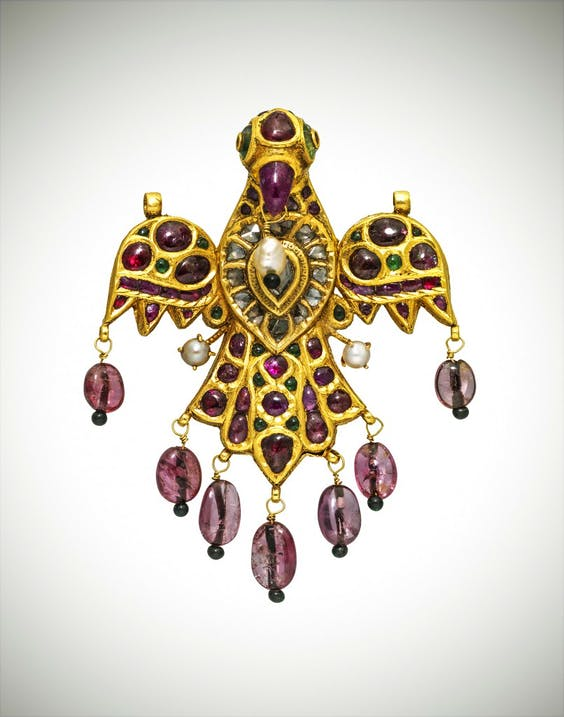 Falcon gem-set pendant, (17th century) India (Deccan)