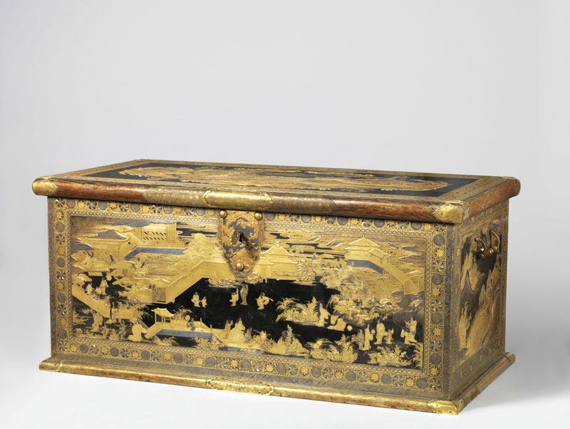 Chest (1635–45), Japan. Lacquer wood.