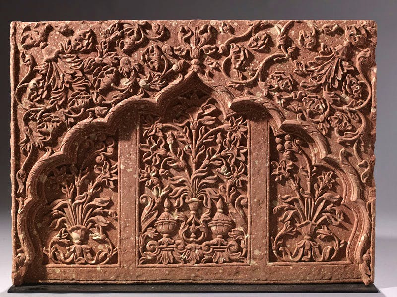 Jali, (c.1680–1730), Indian, probably Rajasthan, red stone, 72×97cm.