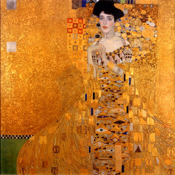 Klimt's 'Adele Bloch-Bauer I'. Perfect for 'that sexy kitten look'. Apparently. Source: Wikimedia Commons