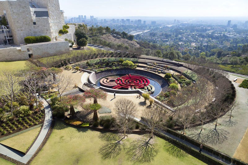 The Central Garden at the Getty Center, Los Angeles, designed by Robert Irwin and completed in 1997