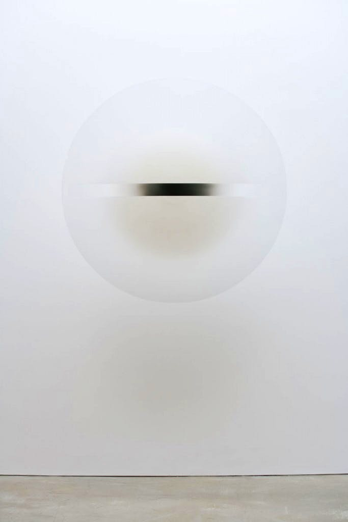 (1969), Robert Irwin, acrylic paint on cast acrylic, diam. 134.7cm.