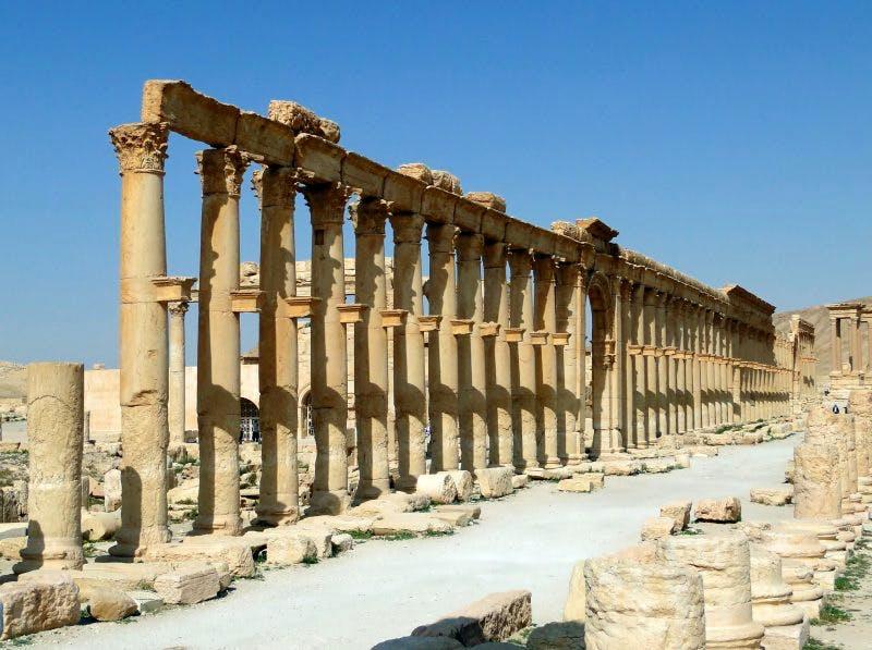 Columns in Palmyra. Source : Wikimedia Commons