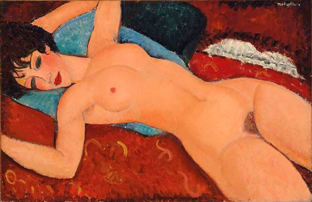 Nu couche (Reclining Nude) (1917-18), Amedeo Modigliani.