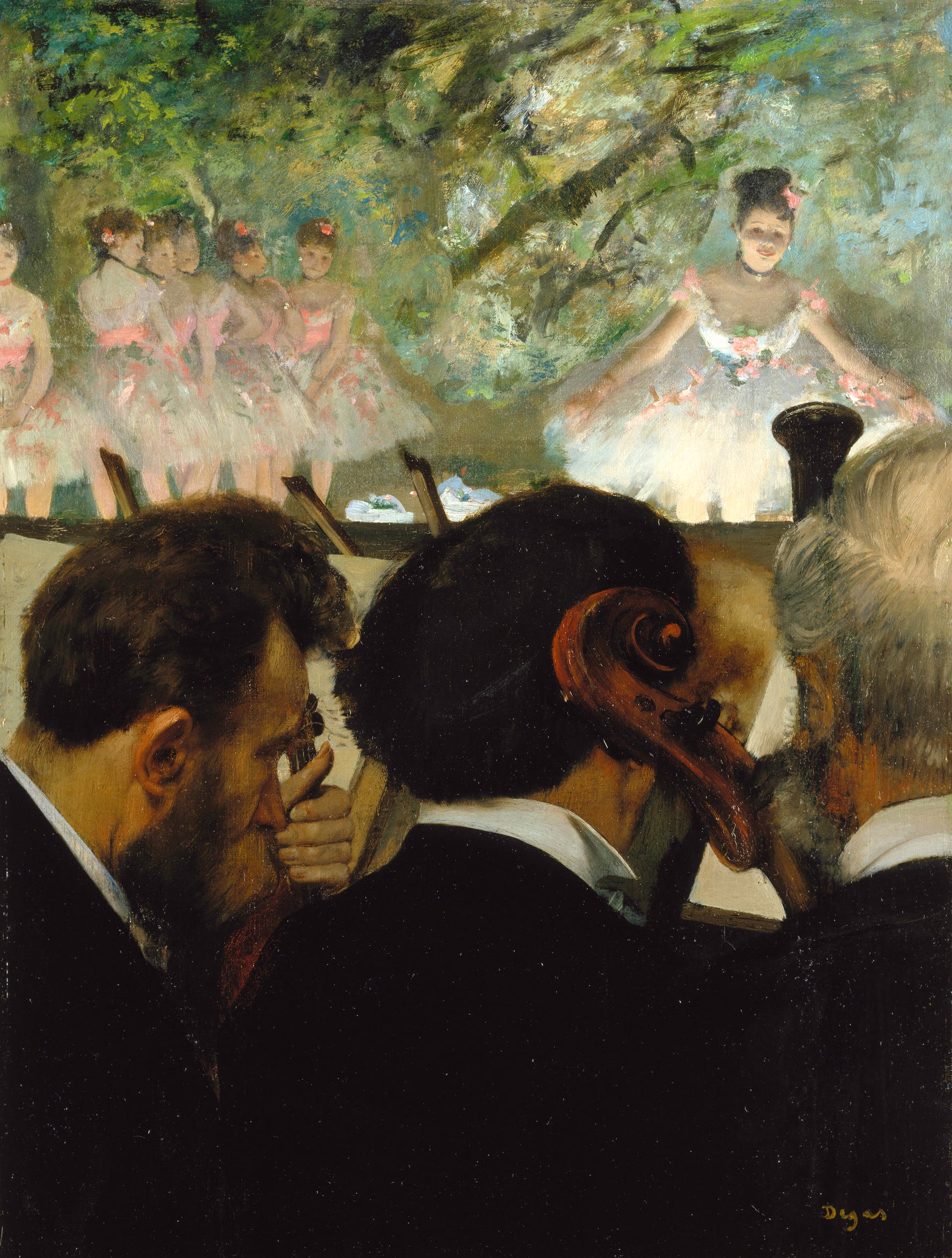 Orchestra Musicians (Musiciens à l'Orchestre), (1872), Edgar Degas