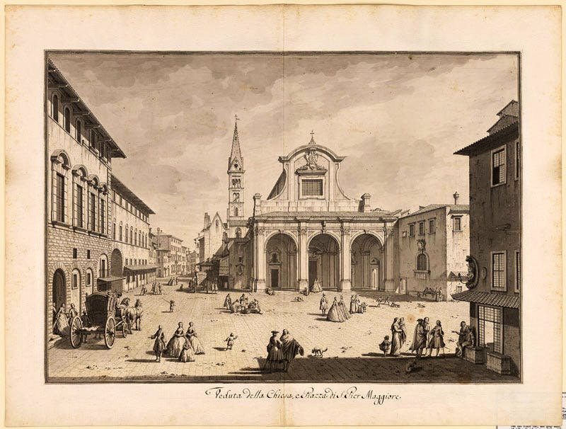 (1744), Giuseppe Zocchi (1711–67), pen and black ink, with grey wash, on paper, 46.6 × 66.8cm.