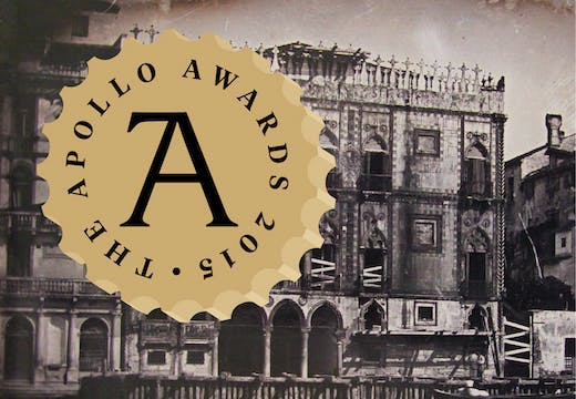 Apollo Awards: Book of the Year: Carrying Off the Palaces