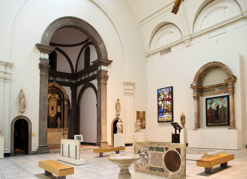 The chapel of Santa Chiara in Florence, now in the Medieval and Renaissance Galleries at the Victoria and Albert Museum, London