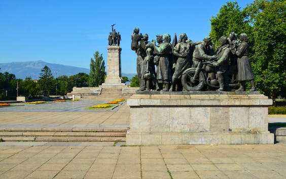 The Monument to the Soviet Army, Sofia, built by a team of artists led by Danko Mitov and completed in 1954