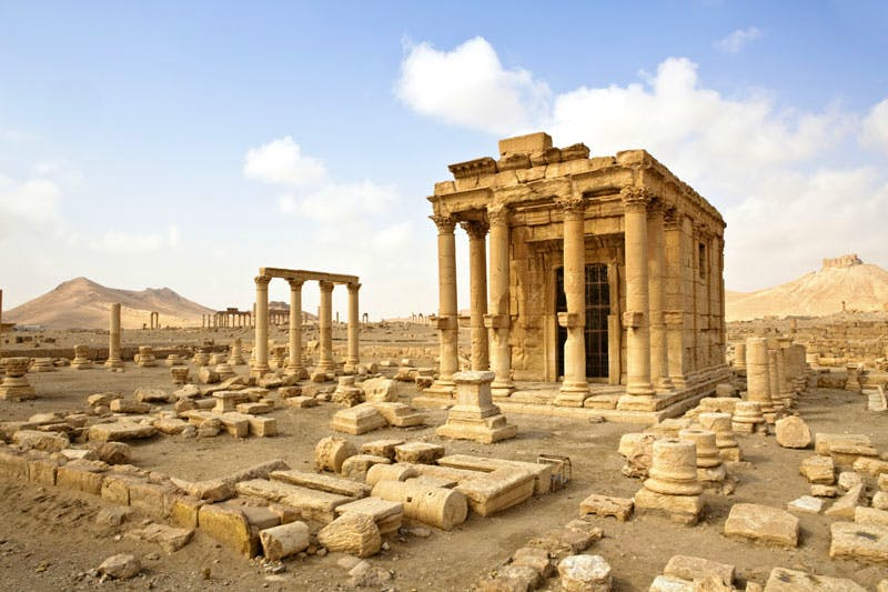 The Temple of Baalshamin, Palmyra, before its destruction by ISIS