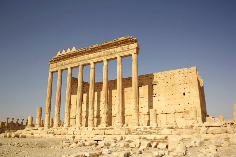 The Temple of Bel, Palmyra, before its destruction by ISIS