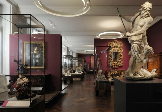 Installation image of the Victoria and Albert Museum's Europe 1600 - 1815 Galleries. Photo: David Grandorge