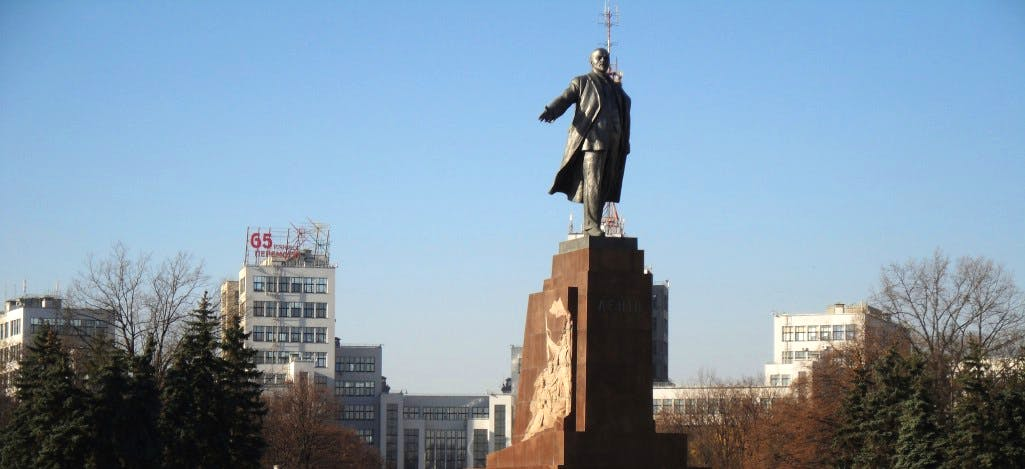 Statue of Lenin in Kharkiv, erected in 1964 and removed in 2014