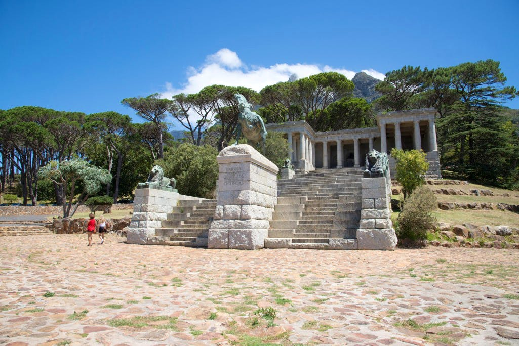 Rhodes Memorial on Devil's Peak, Cape Town, designed by Francis Macey and Herbert Baker in 1906 and completed in 1912
