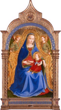 The Virgin of the Pomegranate (c. 1426), Fra Angelico. Museo del Prado, Madrid