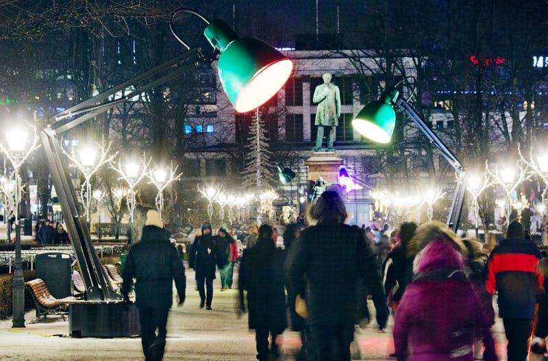 Lampounette by TILT at the Esplanade Park. Part of Lux Helsinki. Photo: Lauri Rotko