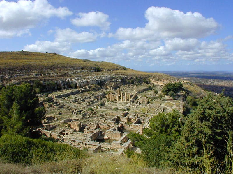 View of the Sanctuary of Apollo at Cyrene