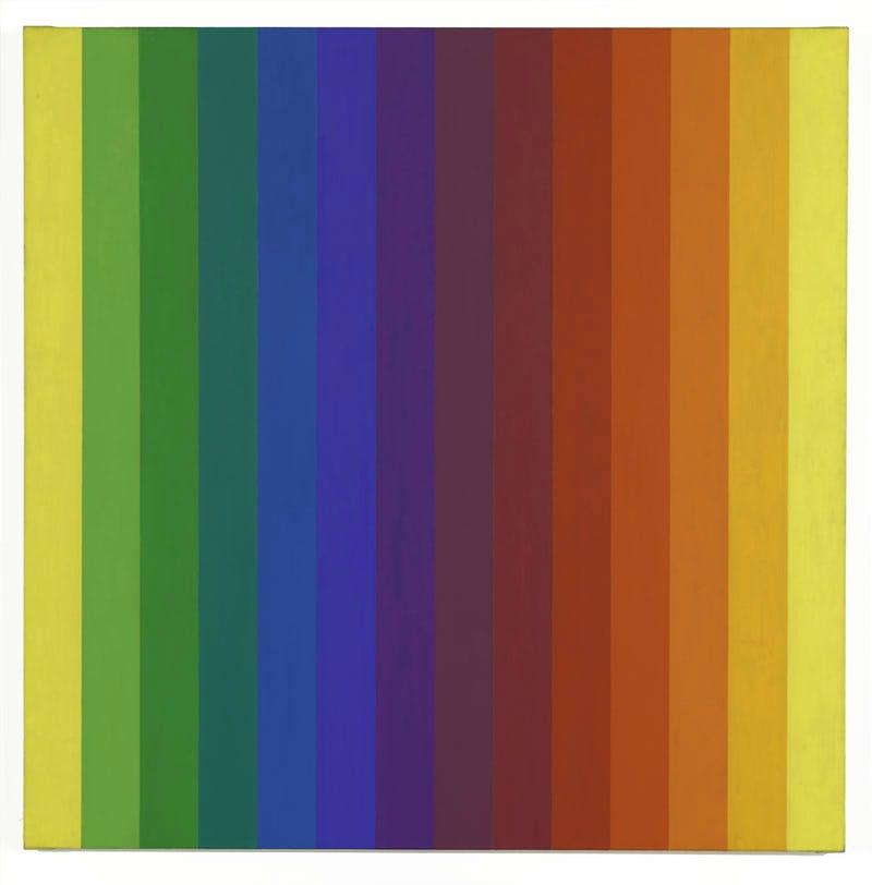 Spectrum I (1953), Ellsworth Kelly. The Doris and Donald Fisher Collection at the San Francisco Museum of Modern Art, and promised gift of Helen and Charles Schwab © Ellsworth Kelly. Photo: Katherine Du Tiel