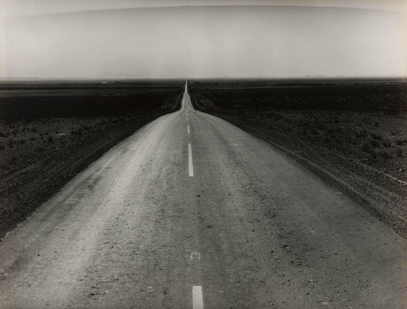 The Road West, U.S. 54 in Southern New Mexico (1938), Dorothea Lange. Collection of the Sack Photographic Trust and the San Francisco Museum of Modern Art, gift of Shirley Davis © Oakland Museum of California, the City of Oakland, gift of Paul S. Taylor
