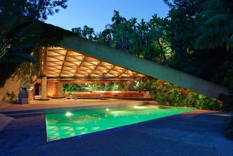 The James Goldstein House, designed by John Lautner.
