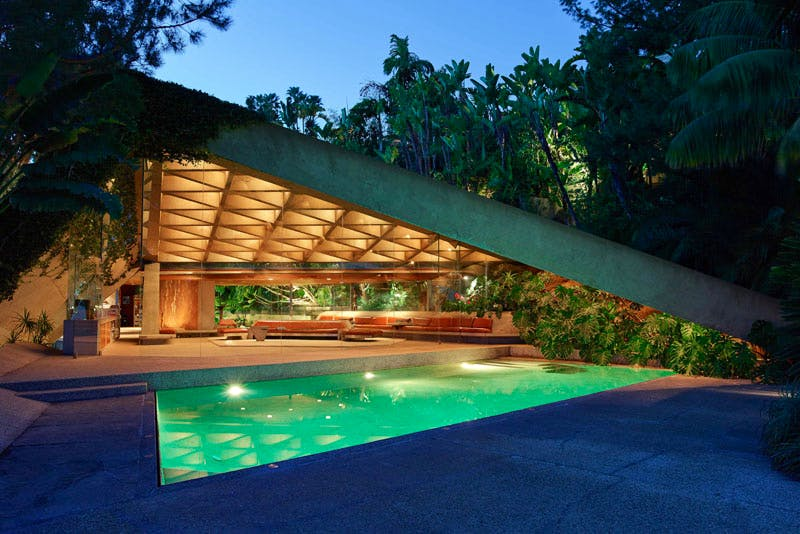 The James Goldstein House, designed by John Lautner.