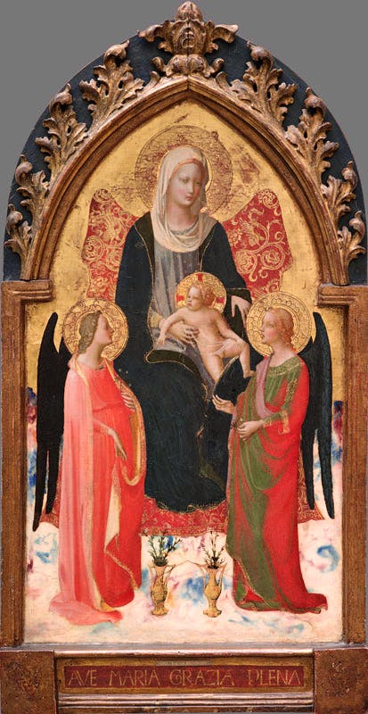 Madonna and Child with Two Angels