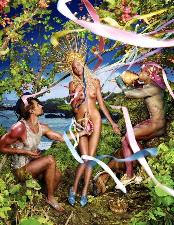 Rebirth of Venus (2009), David LaChapelle. Rebirths of Venus