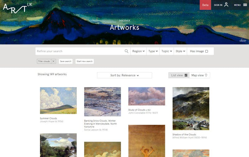 Art UK search results