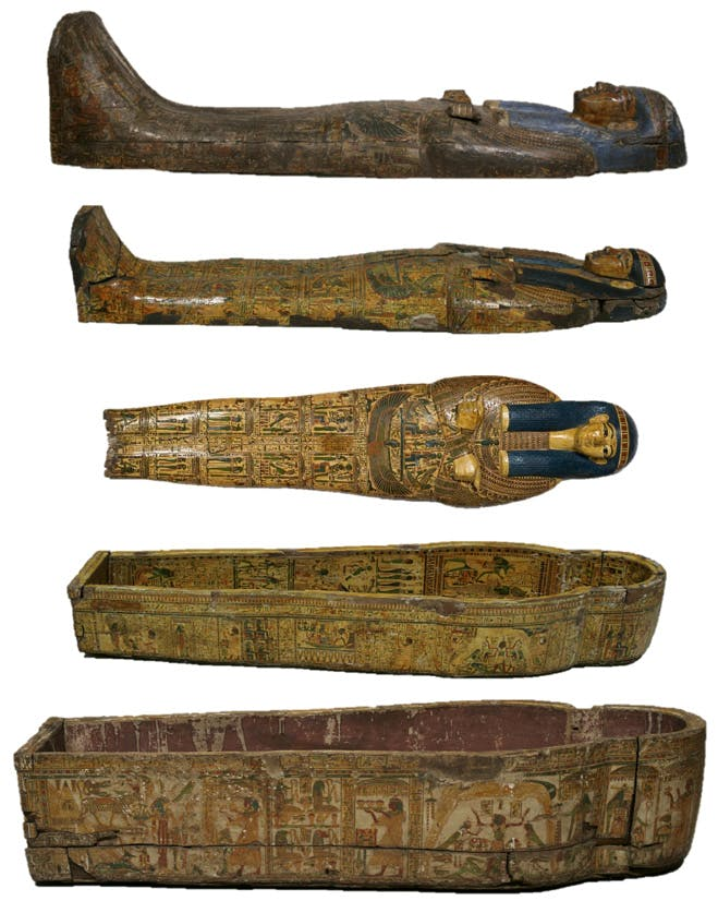 The coffin set of Nespawershefyt, Egyptian, 21st Dynasty, Third Intermediate Period, 1070–945 BC