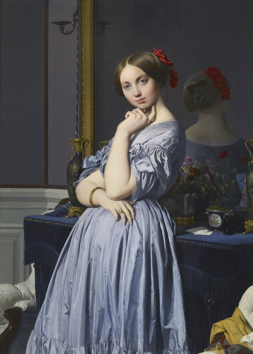 Which of the following is not true of ingres' la grande odalisque