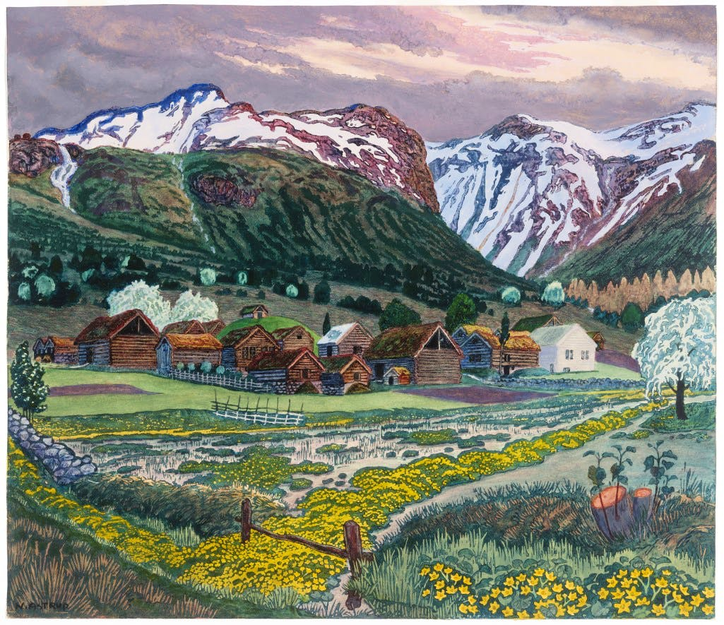 c. 1915, Nikolai Astrup
