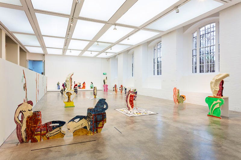 Installation view, 'Betty Woodman: Theatre of the Domestic' (3 February–10 April 2016), at the Institute of Contemporary Arts, London.