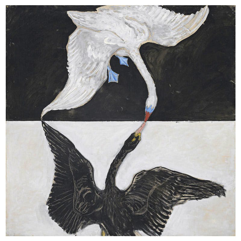 Group IX/SUW, No. 1. The Swan, No.1 by Hilma af Klint.