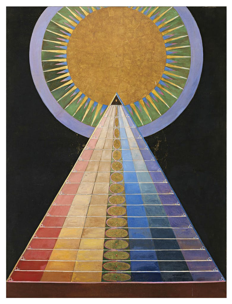 Group X, No. 1. Altarpiece, by Hilma af Klint.